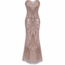Buy 2017 Women Fashion Sexy sleeveless sequin dress strapless party dress maxi dresses Sexy Party Night Club solid long Dress for $22.26 in AliExpress store
