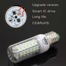 New Smart IC E27 220V 24 36 48 56 69 81 89Leds 5730 Led Corn Light Bulb Replace 30w 40w 50w 60w 80w Candle Home Lighting Lamp(China)