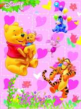 5x7FT Winnie Poor Bear Tiger Pink Love Pattern Branch Custom Photo Studio Backdrop Background Vinyl 220cm x 150cm(China)