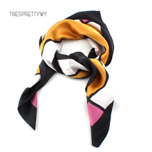 TRESPRETTYWY Brand Women Scarf Winter Imitation Silk Family Scarves Small Square Scarf Lady Scarf Hair Band Couple Holiday Gift(China)