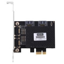 DIEWU SATA3-T2 PCI-E to ESATA3.0 Expansion Card Adapter Activated SSD Solid-state Hard Drive Multi I/O Controller Card