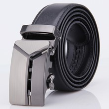 2017 Men's Genuine Leather Automatic Buckle Belt Man Designer Belts Men High Quality Black Luxury Strap ceinture homme KA103