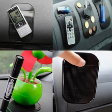 4PCs Black  Universal Car Magic Sticky Pad Anti Slip Mat Non-slip Sticky Car Dashboard for Cell Phone GPS Holders Free shipping