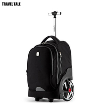 TRAVEL TALE 18 inch super big wheels rolling backpack Waterproof men's carry on bag