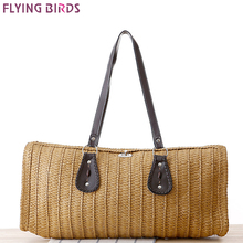FLYING BIRDS beach bag women handbags women straw bag summer style handbags bolsas women's bags brands travel bags a1227fb(China)