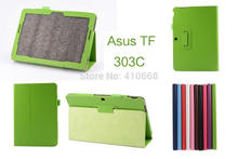 Litchi Smart leather case cover for Asus TF303c Luxury Design For Asus Transformer Pad TF303 TF303CL 10.1 inch Tablet+Stylus