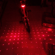 5LED 2Laser Bike Bicycle light 7 Flash Mode Cycling Safety Rear Lamp waterproof Laser Tail Warning Lamp Flashing 5 led 2 laser