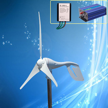 400W Wind Turbine Kit 400W 24V Wind Turbine Generator + Max 600W 24V Wind Controller + 600W 24V Pure Sine Wave Inverter(China)