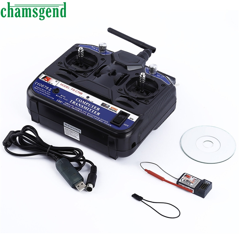CHAMSGEND High quality FLY SKY 2.G FS-CT6B 6 CH Channel Radio Model RC Transmitter Receiver Control S25(China (Mainland))