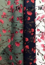 150cm width Chiffon crepe fabric flowers pattern can see through for skirt suit-dress headband CH-7514