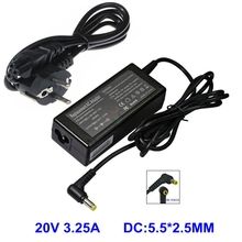Laptop AC Adapter For LS 20V 3.25A 5.5*2.5 For FUJITSU Averatec 3220 AV3100 ADVENT 1115C Notebook Power Supply Charger(China)