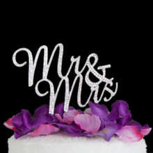 Sparkles Silver Crystal Rhinestone Cake Topper Wedding Monogram Mr & Mrs Party Decors Keepsake Marriage Crafts Supplies