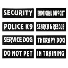 2 Pcs Custom K9 Dog Collar Harness Label Custom Pet Harness Label Sticker DIY Logo Dog Harness & Vest Service Therapy Police