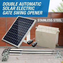 DC24V 300kg per leaf dual solar system automatic electrical swing gate door opener motor EM3(no battery included)