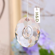 50mm Clear Hollow Round K9 Glass Crystal Prisms Pendants Chandeliers Parts Garland Chakra Spectra Lustres Lamp Hang Drops Decor