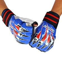 New SUTEN 1 Pair Half Finger Fight Boxing Gloves Mitts Sanda Karate Sandbag TKD Protector For Box Boxing Training with Image