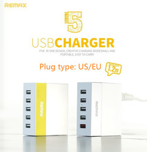Original Remax 5 USB Phone Charger Ming Series RU-U1 Youth/Business Chargers Adaptor EU US Standard Optional