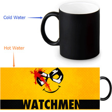 Watchmen Smiley Magic Mug Custom Photo Heat Color Changing Morph Mug 350ml/12oz Coffee Mug Beer Milk Mug Halloween Gift