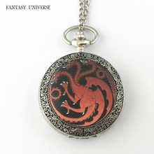 FANTASY UNIVERSE Freeshipping wholesale 20pc a lot Game of thrones pocket watch Necklace Dia4.7CM DFEIJI61