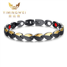 5PCS [YMW] Women's Healthy Bracelets & Bangles Magnetic Power Negative ions Women Fashion Jewelry Adjustable size(China)