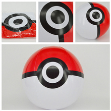Anime cartoon lovely cute 20 cm Pocket Monsters Pikachue ball game activity decorations Inflatable balloon toys Model