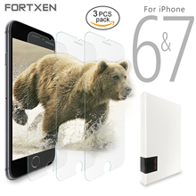"FORTXEN Protective Glass For iPhone 7 6 6s 4.7"" Screen Protector [3 pieces lot] On Phone Tempered Glass Film Guard For Apple(Hong Kong)"