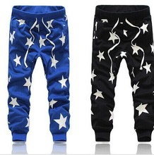 Men Sport Pants Casual Joggers Star Printing Sport  Military Camouflage Outdoors Trousers Harem Hip Hop 2015 Free Shipping