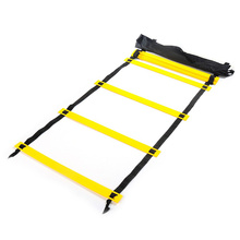 Top Quality 3 Meters Outdoor Sport Brand Adjust 6 Rung Agility Football Training Ladder Durable Soccer Speed Training Equipment(China)