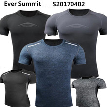 Tight Clothes Ever Summit Soccer Jersey S20170402 Slim Running T-Shirts Custom Design Shirts Elasticity Football Clothes Fitness(China)