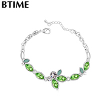 Btime Fashion Hot New Colorful Charm Bracelet Vintage Women Bangle One Direction Crystals From Swarovski