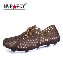 Buy MVP BOY 2018 New Summer Hollow Casual Men Sandals Fashion Breathable beach Sandals Beach Shoes Water Shoes Slippers for $14.25 in AliExpress store