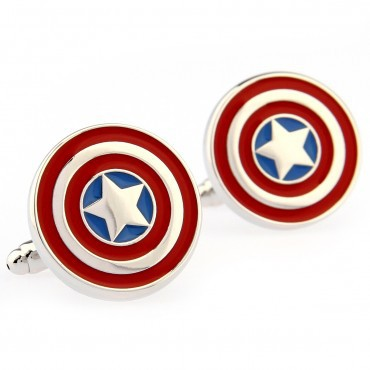 Captain America Cufflink 15 Pairs Free Shipping