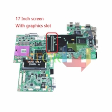 for dell inspiron 1720 laptop motherboard 17'' CN-0UK435 UK435 965PM DDR2 with graphics slot