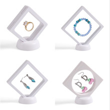 4 pcs/lots White Multifunctional Jewelry clear Display Stand Earring Bracelet Necklace Ring Accessories(China)