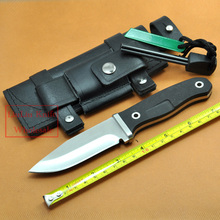 Hunting Fixed Knife ATS-34 Blade G10 Handle Camping Knife Outdoor hunting Knives & Leather Sheath & Flintstones