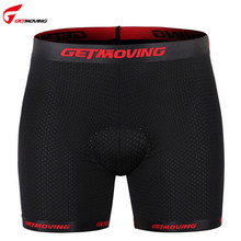 GETMOVING 3D Gel Padded Bicycle Cycling Underwear Short Mesh Breathable Bicycle Short Padded Protection Cycle Bike Shorts