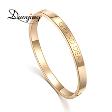 DUOYING Custom Name Copper 6mm Bangle Bracelet Personalized Initial Engraved Name Bracelet & Bangle For Lovers Etsy supplier(China)