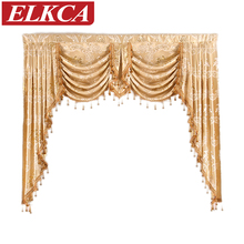 1 Piece Valance European Royal Luxury Valance Curtains for Living Room Window Curtains for Bedroom Valance Curtains for Kitchen(China)