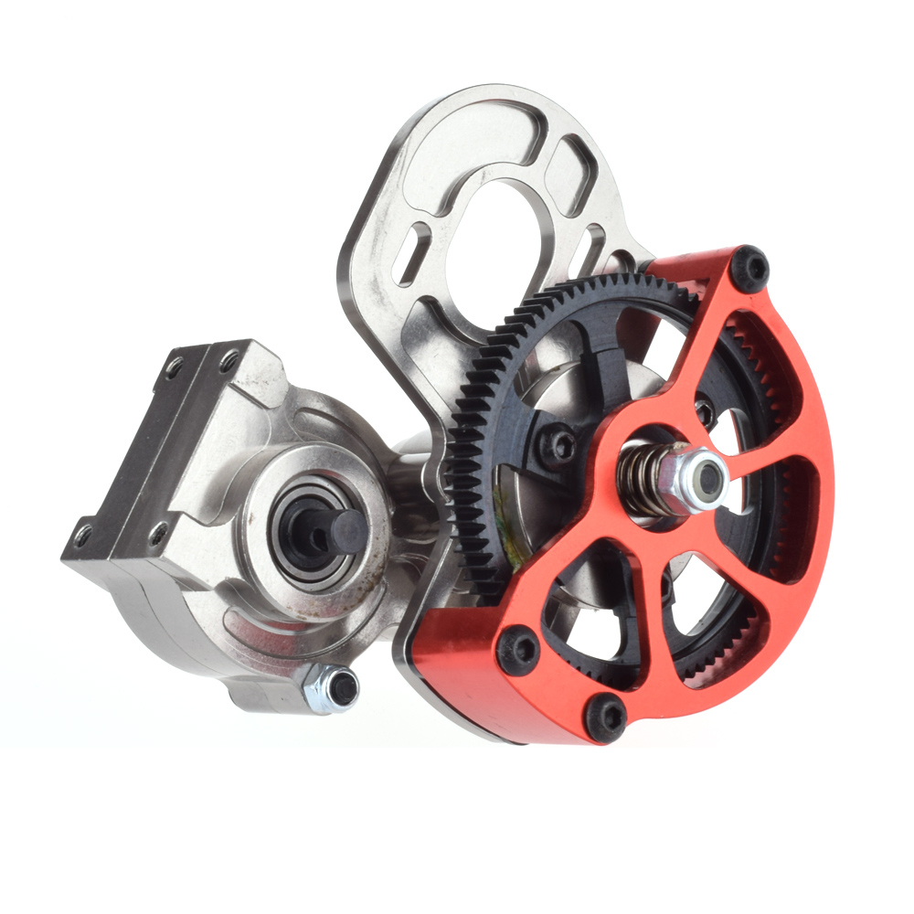 1/10 RC Car Truck FULL METAL Assembled Transmission Gearbox Tranny With Straight Gear for RC AXIAL SCX10 D90<br>