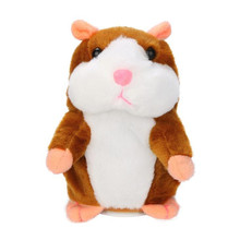 Talking Hamster Plush Toy Speak Talking Sound Record Hamster Peluche Stuffed Animals Educational Kids Toys New Year Gift(China)
