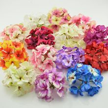 cheap Artificial Flowers Hydrangea bride bouquet Silk cherry Wedding Car Decoration DIY material garlands simulation Fake Flower