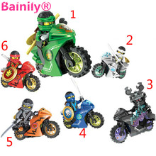 [Bainily]258A Hot Ninja Motorcycle Building Blocks Bricks toys Compatible legoINGly Ninjagoed for kids gifts