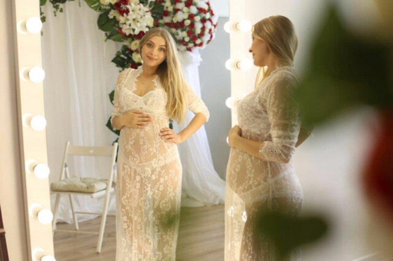 pregnant lace dress photography props (10)