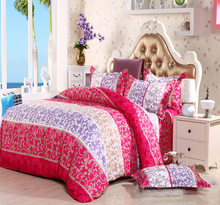 comforter set Jacquard and stripe style of king queen size 4pc cotton bedding sets bedclothes quilt cover bed sheet pillowcases