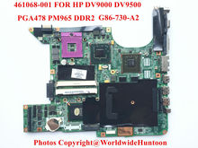 Original laptop Motherboard for HP DV9000 965PM 447982-001 PGA478 DDR3 G86-730-A2 8400GS Fully tested