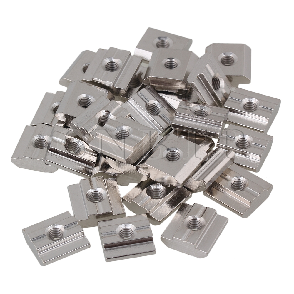 30pcs 30 Series European Standard T Sliding Nut M5 Thread Carbon Steel CNBTR<br><br>Aliexpress