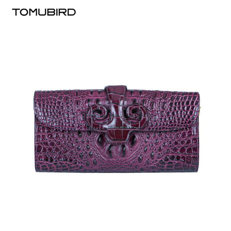 TOMUBIRD New women genuine leather bag brand Designers Crocodil embossed cowhide leather clutch bag women handbags shoulder bag <br><br>Aliexpress
