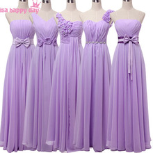 vestidos de sirena elegantes full figure long chiffon v neck bridesmaid dresses under 50 dress lavender plus size gown B2742