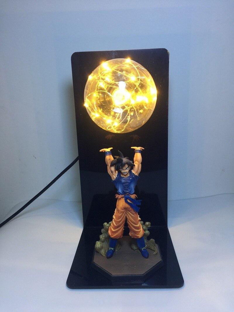 Dragon Ball Z Action Figure Son Goku Fighting Creativity Glowing Flash Ball DIY Display Toy Super Saiyan 2018 Newest (2)