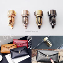 5pcs Metal Brand new High quality Column Tuck Lock Closure Catch Clasp Buckle Fasteners for Leather Bag Case Handbag Purse(China)